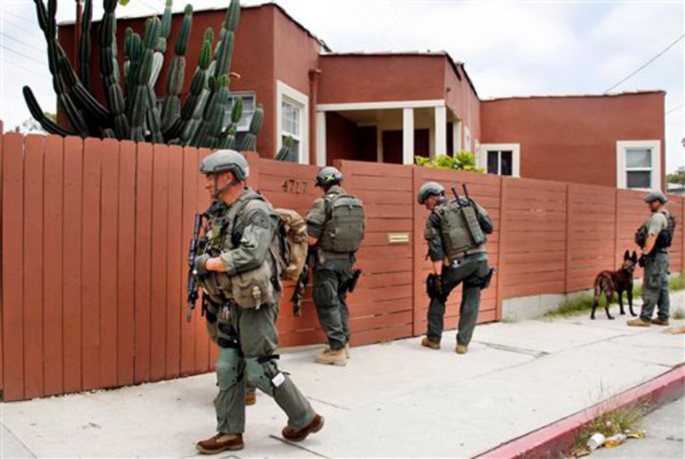 Manhunt Continues for Suspect in Ambush of Two LAPD Detectives