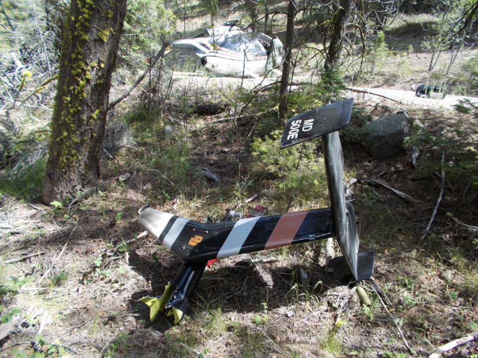 Helicopter Searching for Marijuana Crashes in Eastern Oregon