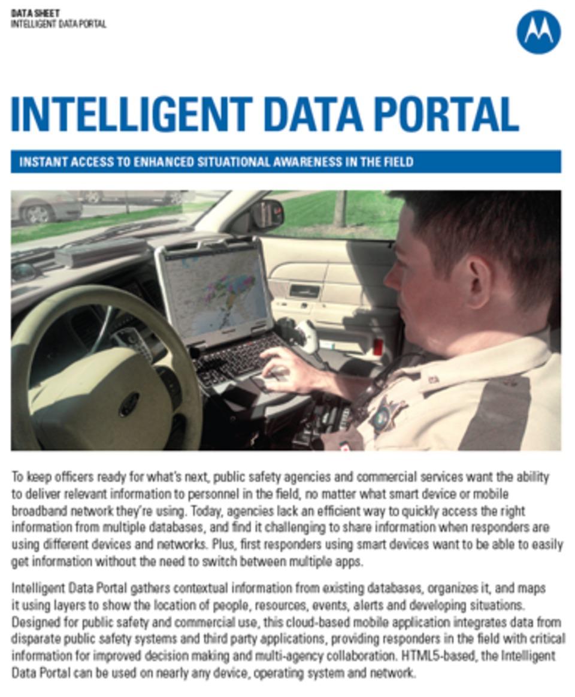 Motorola Solutions' Intelligent Data Portal Gives First
