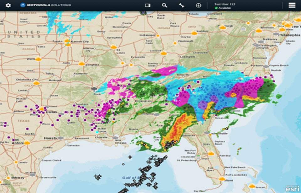Accuweather Severe Weather Map.Accuweather Provides Severe Weather Information In The Field On