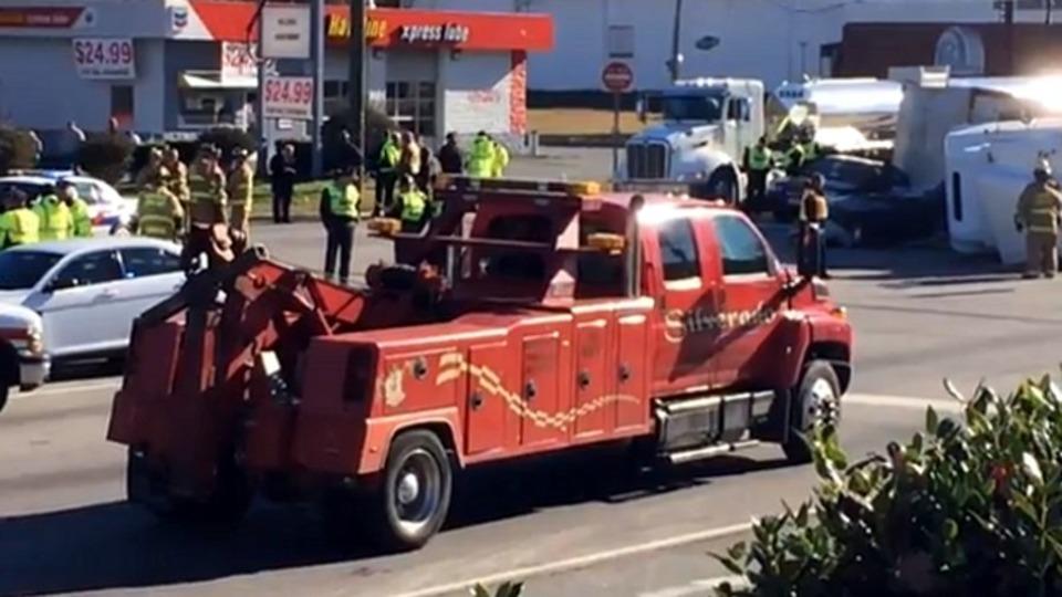 Monroe Truck Equipment >> N.C. Deputy Killed After Truck Overturns on Cruiser