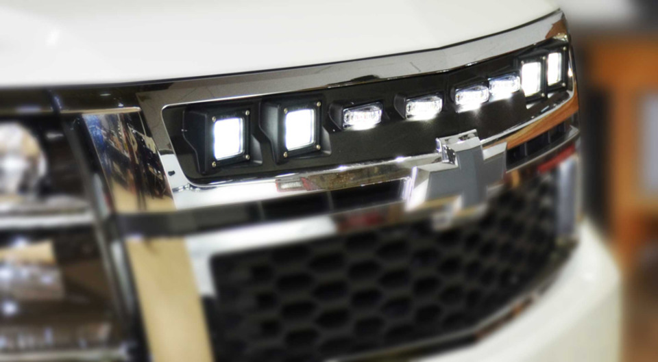 Custom Chevy Tahoe >> Rockland Custom Products, Tactical Division Illumi-Grille Lights for Chevrolet Chevy Tahoe in ...
