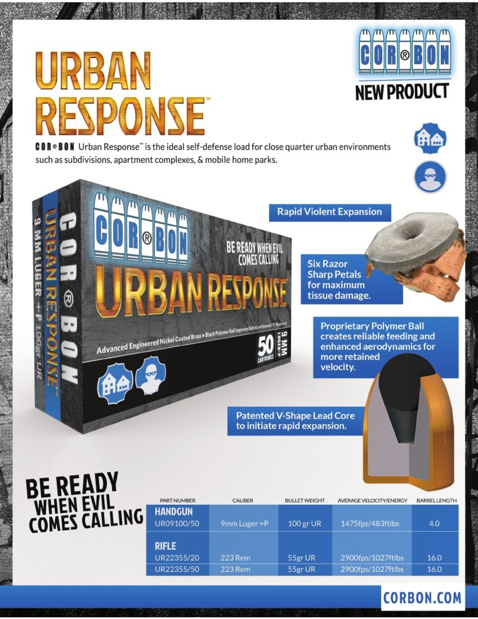 COR®BON AMMUNITION ANNOUNCES ITS NEW URBAN RESPONSE™ PISTOL