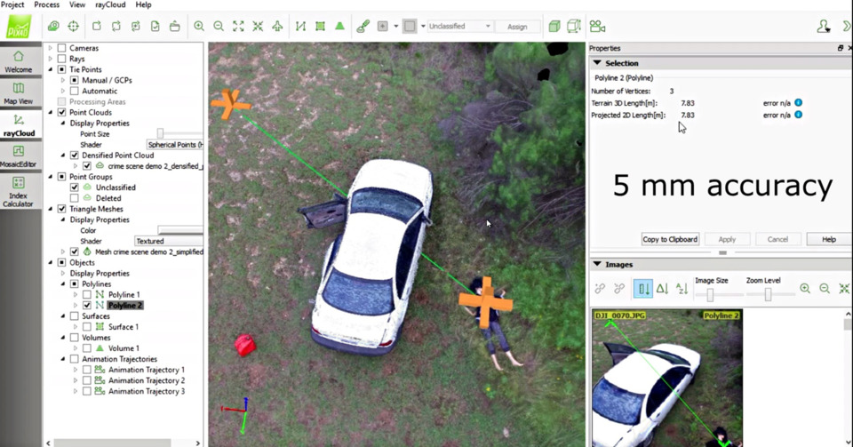 UAV Direct 3D Crime-Accident Scene Drone System in Vehicles & Equipment