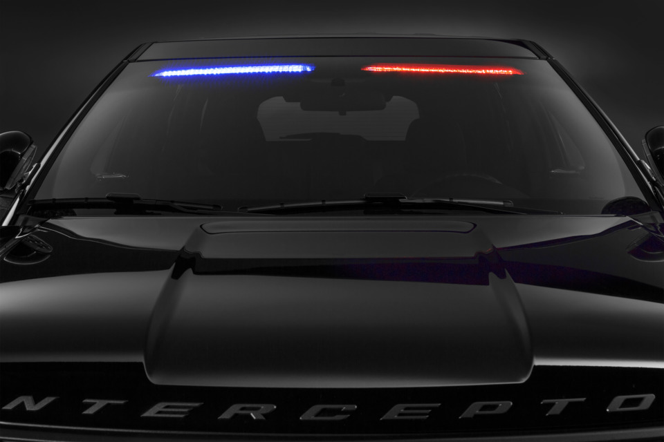 Ford motor co no profile front interior visor light bar on police ford now offers a super low profile visor light bar that mounts inside the police interceptor utility to enable a stealth appearance mozeypictures Image collections