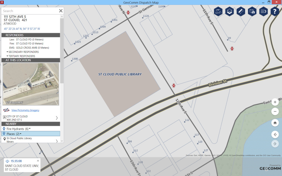 GeoComm Inc. Dispatch Map in Dispatch Technology on shipping maps, data maps, jail maps, transmission maps, inventory maps, service maps,