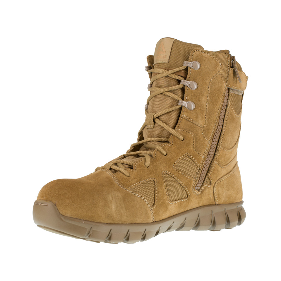 f44c8c325e51fe The Reebok Sublite Cushion Tactical RB8809 model comes in a coyote brown  with a composite safety toe and side zipper.