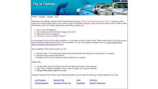Desk Officer Online Reporting System
