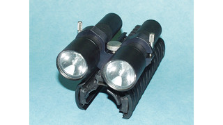 Picatinny Double Flashlight Mount