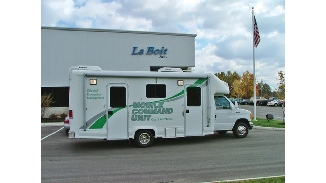 mobile command unit for Ann Arbor