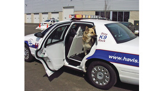 Improved K9 Transport Systems featuring white powder coat finish