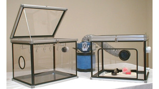 portable latent fingerprinting chambers and work stations