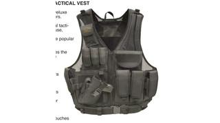 Left-handed Deluxe Tactical Vest