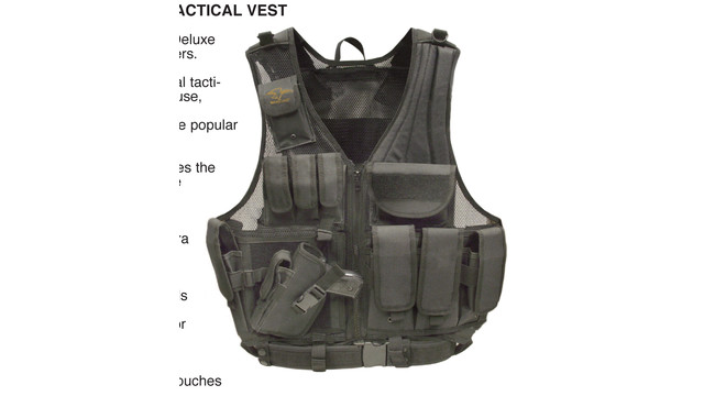 Left-handed Deluxe Tactical Vest