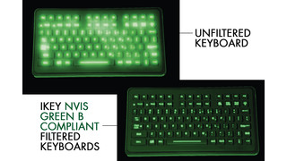 NVIS Green B compatible keyboards