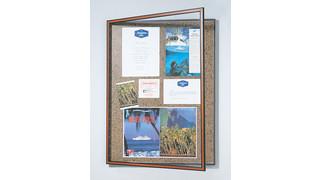 Secret-lock window bulletin boards