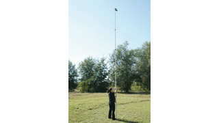 21-foot portable telescoping mast