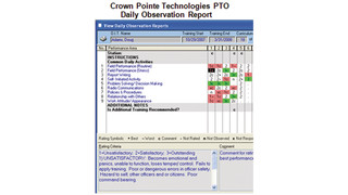Field training officer training software (FTO System)