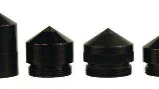 Full-size flashlight caps