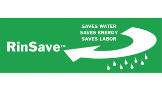 RinSave Water Saving Feature