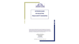 Interview Guide for Selecting Public Safety Candidates