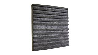 Ballistic rubber acoustic panel