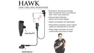 Earphone Connection Hawk Lapel Mic