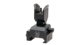 Flip up front sight for tactical forearms