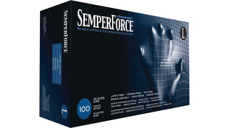 SemperForce Black Nitrile Exam Glove