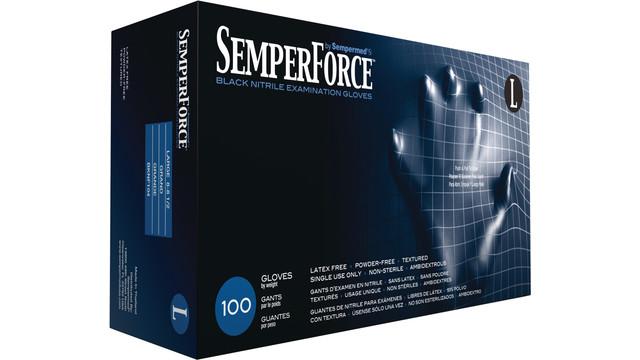 SemperForce Black Nitrile Exam Glove