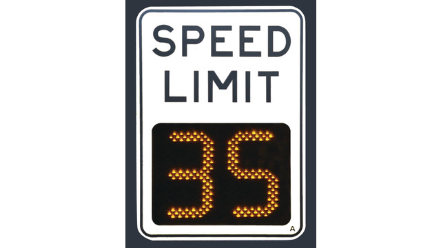 SafePace 500 Variable speed limit sign