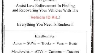 Vehicle Identification Kit