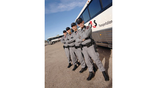 U.S. Customs and Border Protection Prisoner Transport Bus