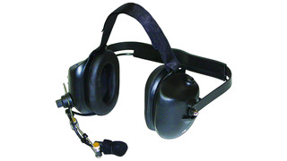 Crew High-Noise, Dual-Muff Headset with PTT