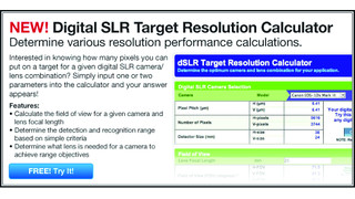 Online dSLR Camera Resolution Calculator