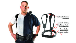 Ergonomic duty belt harness