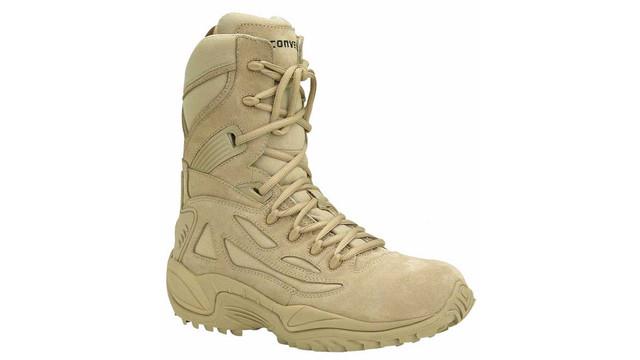 CONVERSE MEN'S 8'' DESERT TAN SIDE-ZIP SAFETY-TOE BOOTS