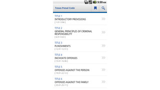 Texas Penal Code - For Android