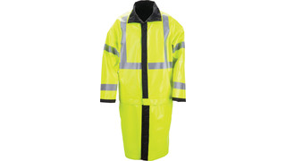 Long Reversible High Vis Rain Coat
