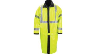 Long Reversible High Vis Rain Coat
