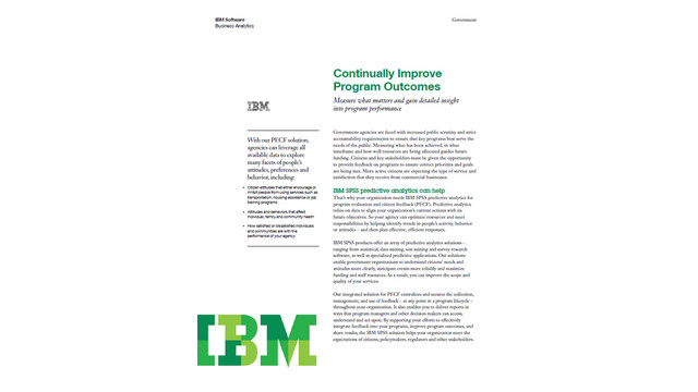 Continually Improve Program Outcomes: Measure what matters and gain detailed insight into program performance