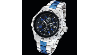 Police blue Tritium Watch