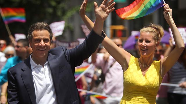 N.Y. Governor And Girlfriend March in Gay Pride Parade.jpg_10734474.jpg