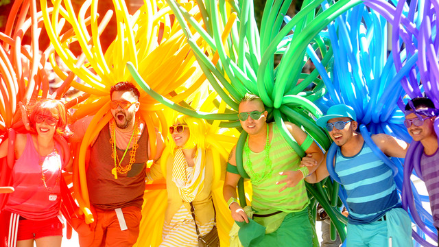 Balloon Covered Humans March in San Francisco's Gay Pride Parade.jpg_10734467.jpg