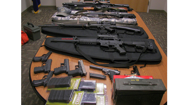 Weapons gathered from a home in Maine suspected of making threats.jpg_10746423.jpg