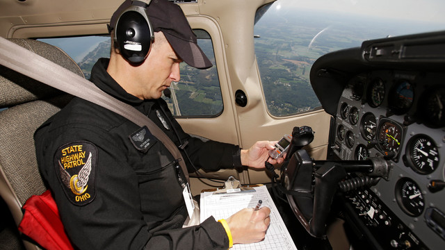 Ohio State Trooper Monitors Motorists Speed From Aircraft.jpg_10736554.jpg
