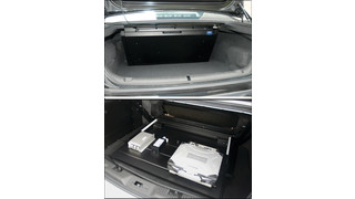 Fold-down Trunk Tray System