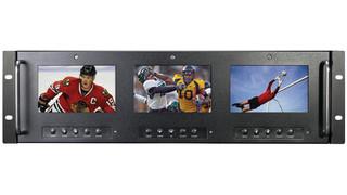 Triple 5 inch HD Monitor, 19 inch Rack Mount (RM-555G)