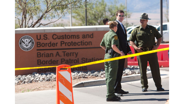 Border Patrol Agents and Secretary of Homeland Security Janet Napolitano's security detail.jpg_10809495.jpg