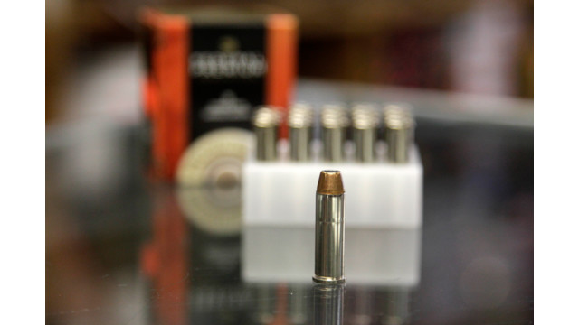 a box of ammunition is seen on the counter of a gun shop in Tinley Park, Ill. .jpg_10815969.jpg
